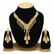 Indian Ethnic Traditional Necklace Earring Set Party Bollywood Jewelry BNG1848A