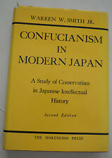 1973 Confucianism in Modern Japan - Warren Smith - Second Edition