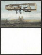 Old Aviation Postcard - France, Airplane - Farman Flight, Chalons to Reims
