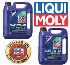 10-Liters  Liqui Moly SAE 0W-40 Fully Synthetic Motor Oil Synthoil Energy