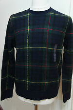 RALPH LAUREN CLASSIC NAVY CHECK PLAID WOOL JUMPER SIZE SMALL RP £850