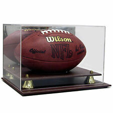 Full Size NFL Football Deluxe Acrylic Leather Base Display Case AS0418