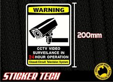WARNING CCTV TELEVISION SECURITY SURVEILLANCE STICKER DECAL SIGN LARGE 200mm