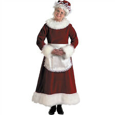 Deluxe Mrs Claus Costume Miss Santa Christmas Costume Plus Size 12-14