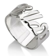 Beauty Personalized Name Ring Style Custom Name Band Sterling Silver Customized