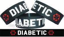 Diabetic Wristband One Inch Easy To See & Read Diabetes Bracelet for Awareness