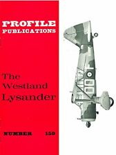 WESTLAND LYSANDER: PROFILE #159/ NEW PRINT FACSIMILE ED/ 14 NEW PAGES+A3 CUTAWAY