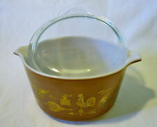 Pyrex Early American 473 Covered Round Casserole Dish Bowl With Lid 1 Qt.