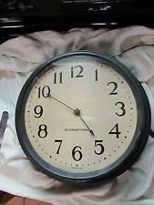 "ANTIQUE VINTAGE ORIGINAL 1938 SLAVE CLOCK, by International,16"" LARGE-WALL CLOCK"