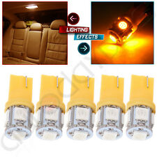 5x Yellow T10 5050 LED Bulb Truck Light For Dodge Buick  Acura Chevrolet BMW