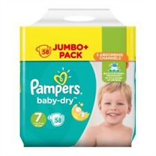 Pampers Baby-Dry Size 7 Nappies 58 Jumbo Pack