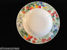 Lynns Fine China WATERBERRY Blue Bird & Fruit Pattern COUPE SOUP / SALAD BOWL
