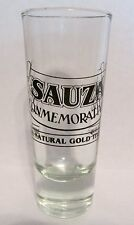 "SAUZA CONMEMORATIVO  THE NATURAL GOLD TEQUILA   3 1/2"" FLUTED GLASS"