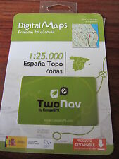 DIGITAL MAPS  1:25.000  ESPANA TOPO ZONAS    TWO NAV