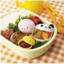 BENTO PANDA PIG CHICKEN Side Dish Food Cup With Lid 3pcs Lunch Box