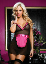 Valentines day SEXY NAUGHTY Waitress MAID COSTUME OUTFIT PARTY DRESS FANCY HEN