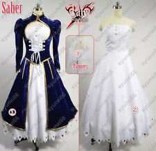 Ver2 Fate stay night Saber Cosplay Costume Custom