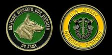 Challenge Coin - US Army Military Working Dog Handler - Special Forces K9
