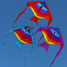 New 74-Inch small fish kite flying Children Toys Outdoor fun Sports single line