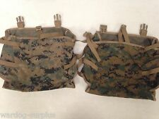 LOT of 2 USMC WOODLAND DIGITAL MARPAT RADIO POUCH ILBE for Main Pack Ruck USGI