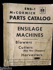 1953 McCORMICK IH CATALOG ENS-1 ENSILAGE MACHINE HARVESTER BLOWER Tractor Dealer