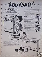 PUBLICITÉ 1959 PIED SELLE PERFECTION CUISINIÈRE A CHARBON - RAOUL - ADVERTISING