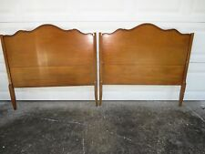 Antique Pair Twin Size Headboards French Provincial 2 Victorian Country Panel