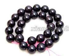 "SALE Big 13-13.5mm Natural Round high quality Brown garnet Beads strand 15""-147"