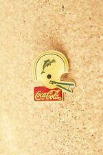 Miami Dolphins football helmet Coca Cola brooch pin coke coca-cola