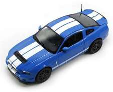 2013 FORD SHELBY MUSTANG GT 500 COBRA BLUE/WHT 1/18 SHELBY COLLECTIBLES SC390-1