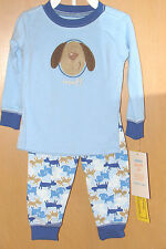 Carter's 2-pc. PAJAMA Sleepwear Set (Boys 12M) Puppy Dog Blue Shirt & Pants NWT