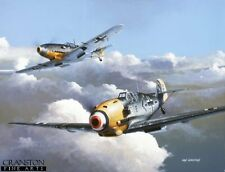 WW2  Aviation Art Post Card German Luftwaffe Ace Adolf Galland Me109 BF109
