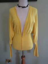 Guess Yellow Sweater Hoodie Size M