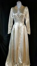 Vintage Satin Ivory Wedding Dress Size Small