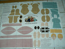 CONCORD'S GOLDILOCKS  MAMA BEAR MOVEABLE ARMS LEGS EASY SEW CRAFT PANEL RARE OOP