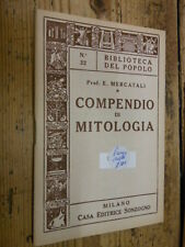 Compendio di mitologia Mercatali Biblioteca del Popolo n. 32 1962 E1