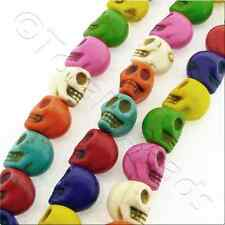 Synthetic Turquoise Skulls 12x15mm - Mixed Colours - 25 pieces