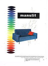 PUBLICITE ADVERTISING 045  1963  MANULIT   canapé-lit