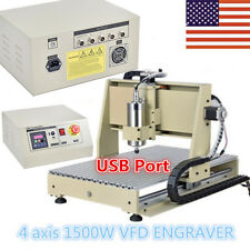 USB 4 Axis Router Engraver/Engraving CNC 6040 Pcb's Drilling&Milling Machine