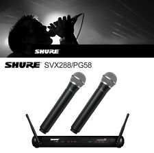 Mic Wireless Microphone Studio Professional Audio SHURE Dual Vocal SVX288 PG58