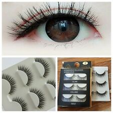 Exquisite Long 3 Pairs Handmade Thick Fake False Eyelashes Eye Lashes Eye Makeup