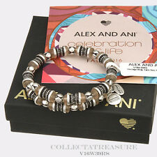Authentic Alex and Ani Heritage, Earth Red Rafaelian Silver Bangle Wrap
