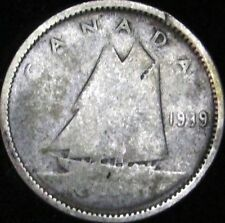 1939 Good Canada Silver 10 Cents - KM# 41 - Free Shipping - JG