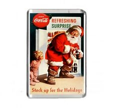 Coca Cola Christmas Santa Father Christmas Fridge Magnet Pic Size 45mm X 70mm