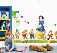 Huge Snow White&  Dwarves Princess Wall Stickers REMOVABLE Decal Girl Baby Room
