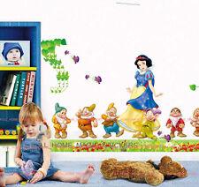 Enorme BIANCANEVE e NANI Principessa Adesivo Parete Decalcomania Rimovibile GIRL BABY ROOM