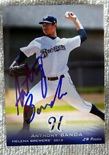 Milwaukee Brewers Anthony Banda Signed 2013 Helena Brewers Card Auto
