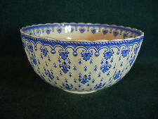 "Copeland Spode Blue Fleur de Lys Lis Earthenware 5"" Rice / Cranberry Bowl(s)"