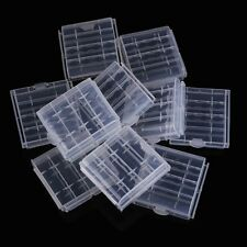 10x Plastic Case Holder Storage Box Cover for Rechargeable AA AAA Batteries T1