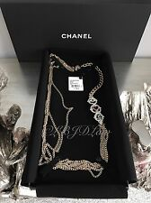 "NWT CHANEL $1700 2016 EYE LOVE InstaCC 36"" Necklace CRYSTAL CC Multi Strand 16K"
